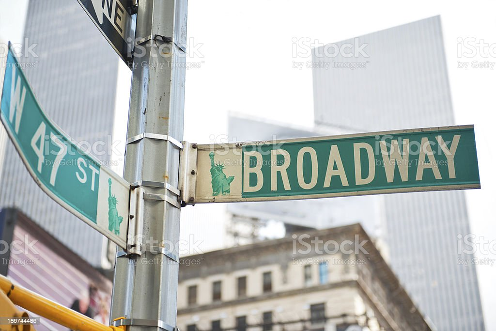Broadway Street Sign in New York royalty-free stock photo