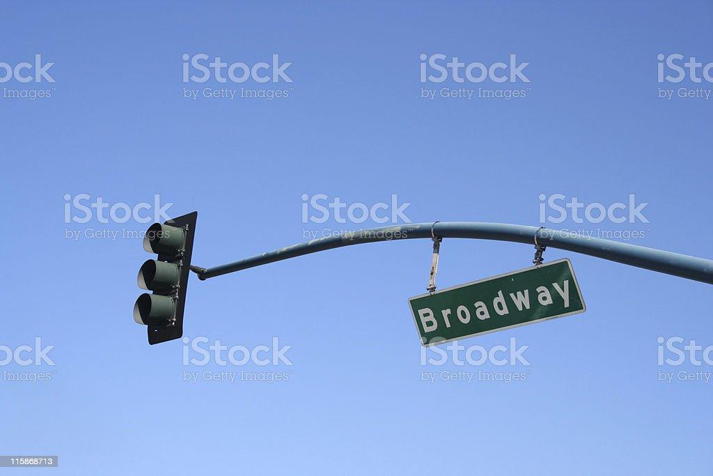 Signe Broadway Street photo libre de droits