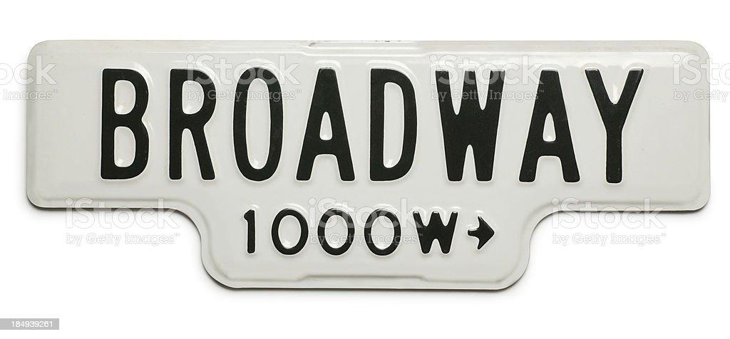Broadway Street Sign royalty-free stock photo