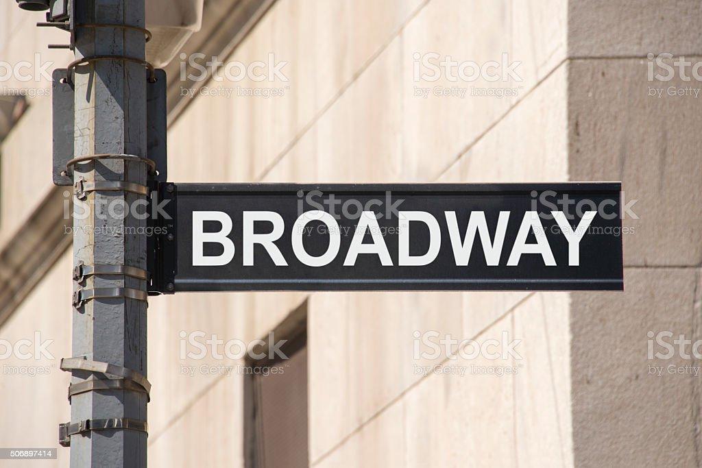 Broadway streetsign stock photo