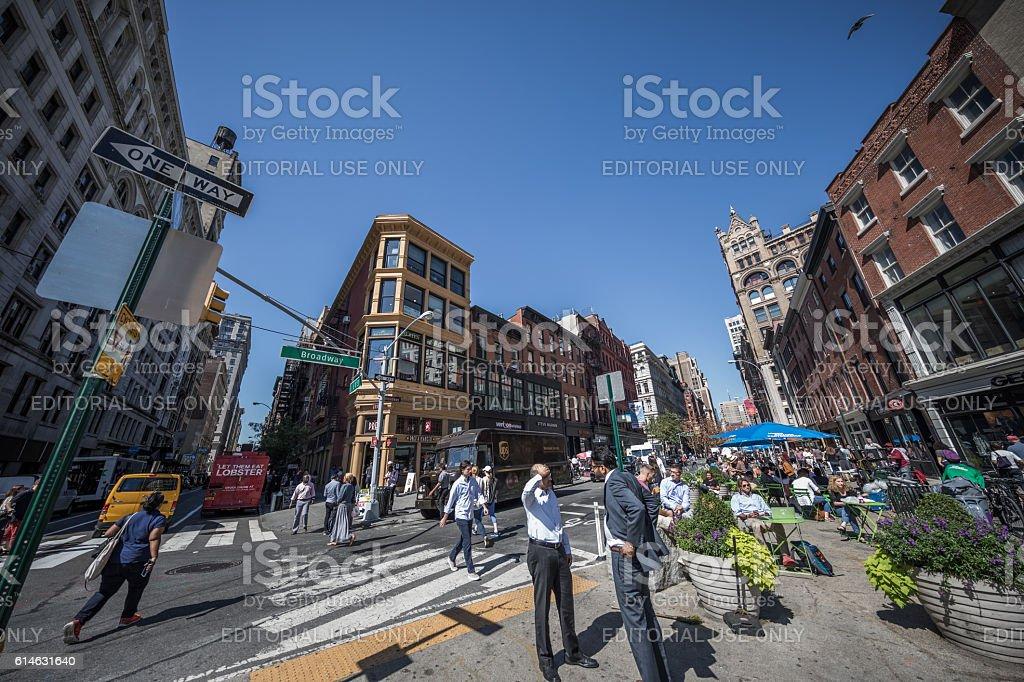 Broadway, Union Square, Manhatten, New York City, USA stock photo