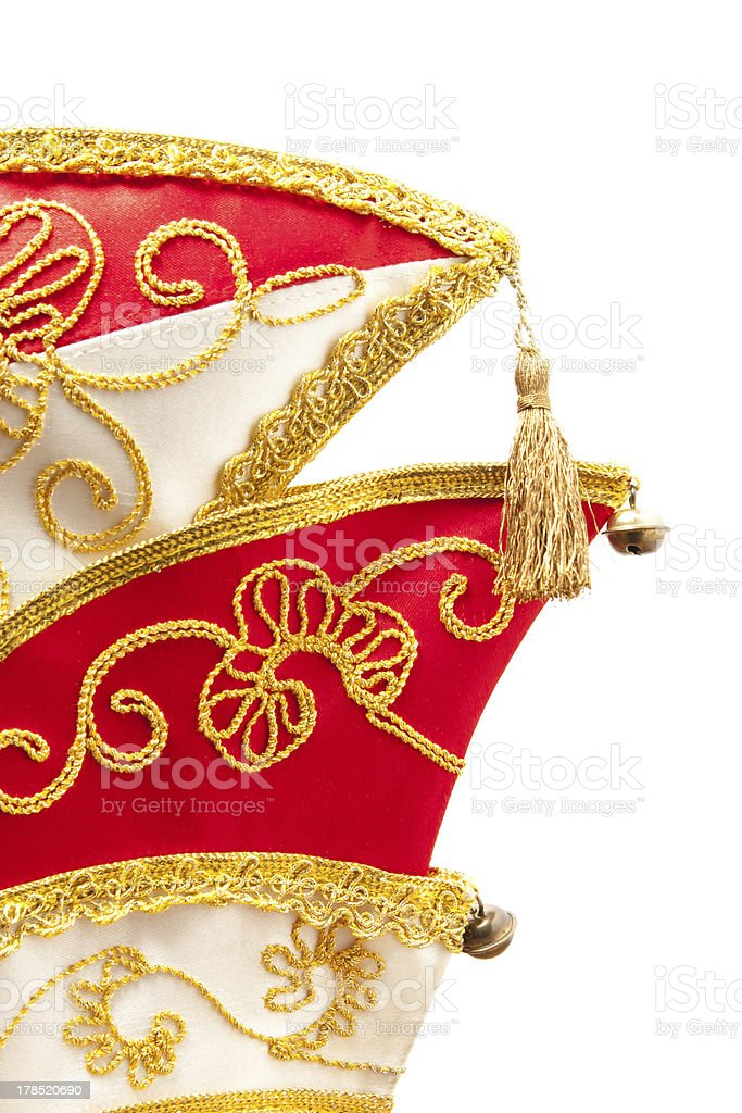 Brocaded carnival hat royalty-free stock photo