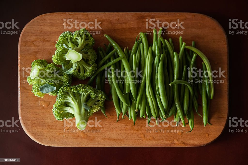 broccoli and asparagus stock photo