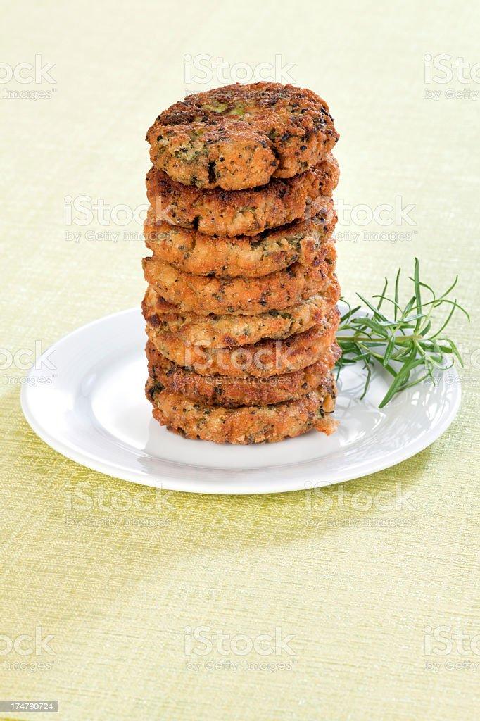 Broccoli and Buckwheat Pancakes royalty-free stock photo