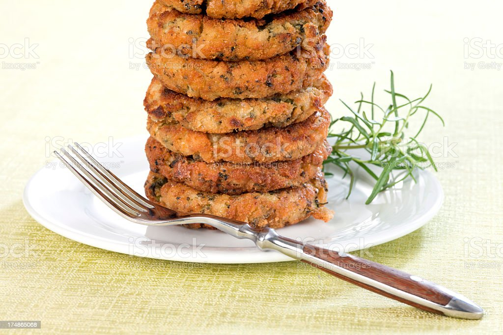 Broccoli and Buckwheat Pancakes royalty-free stock photo