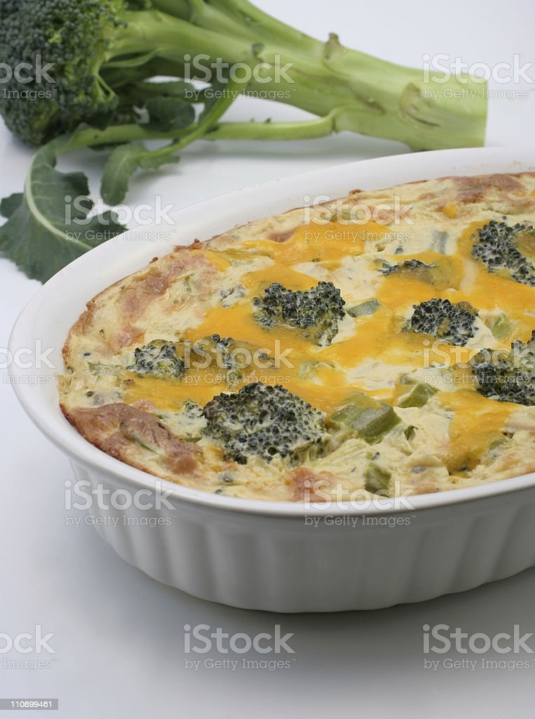 broccoli and casserole royalty-free stock photo
