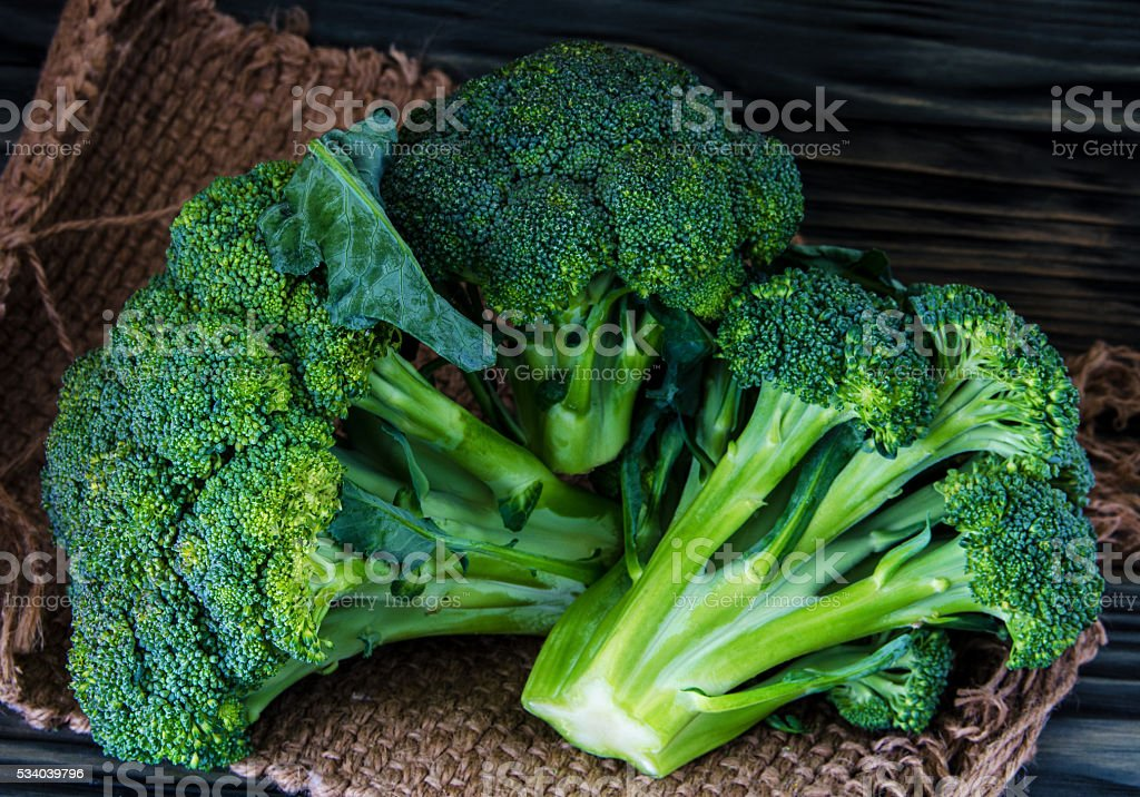 Broccoli, cauliflower and cabbage stock photo