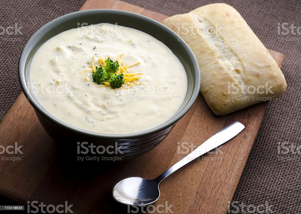 Broccoli Cheddar Soup royalty-free stock photo