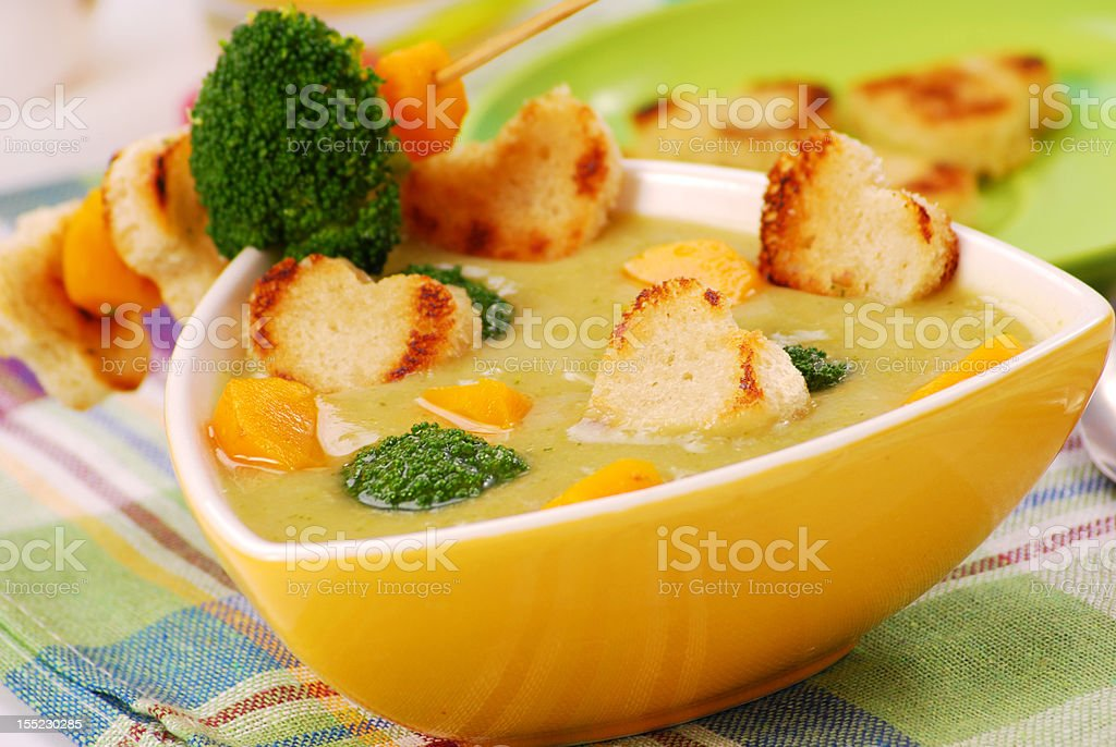 broccoli cream soup royalty-free stock photo