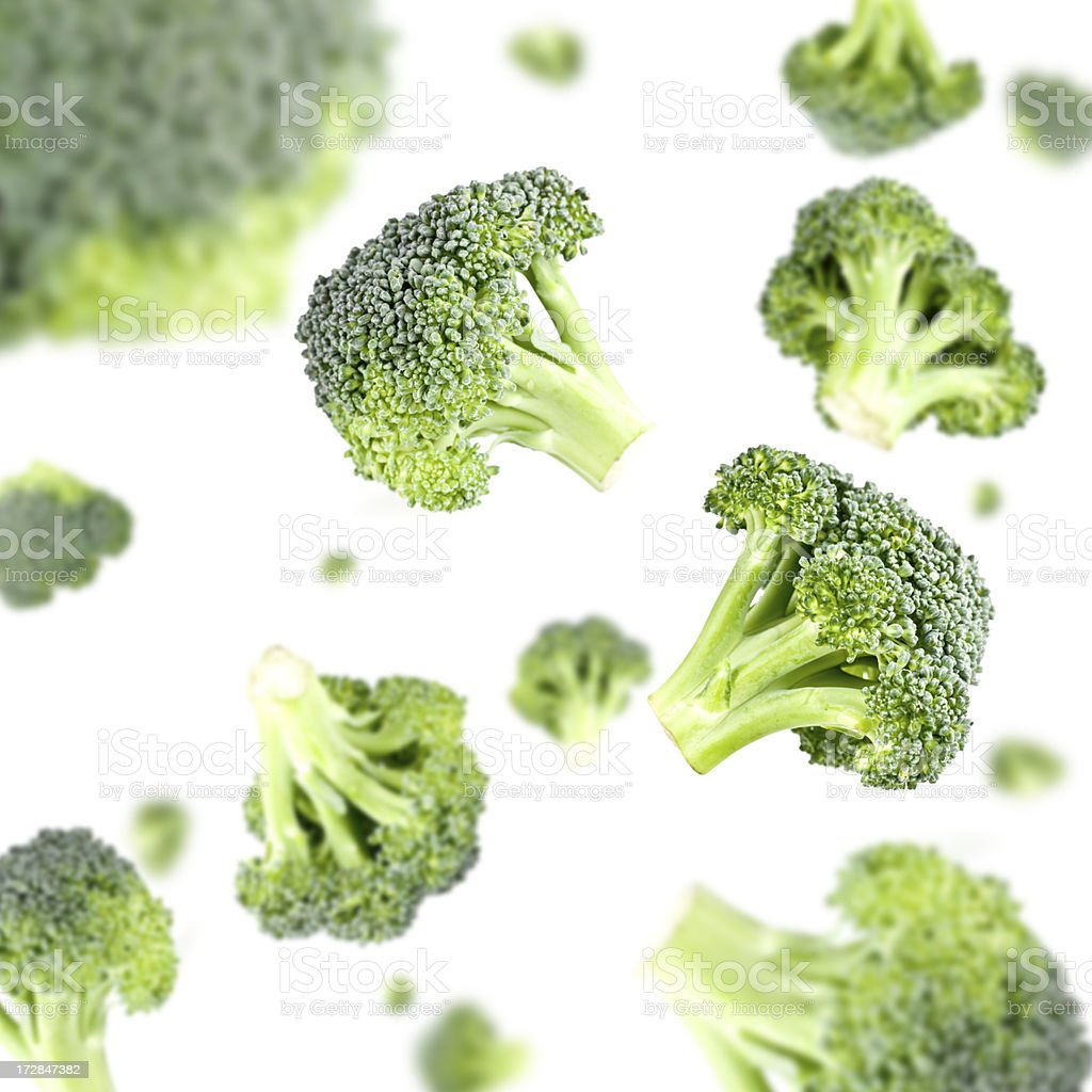 Broccoli Explosion stock photo