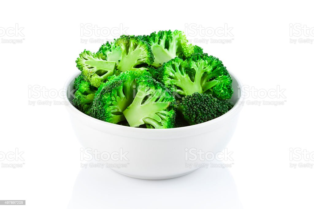 Broccoli in a Bowl stock photo