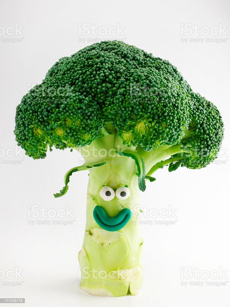 Broccoli portrait royalty-free stock photo