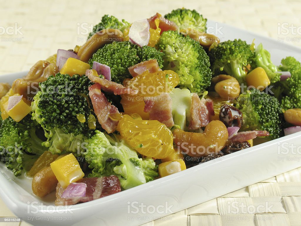 Broccoli Salad With Bacon stock photo