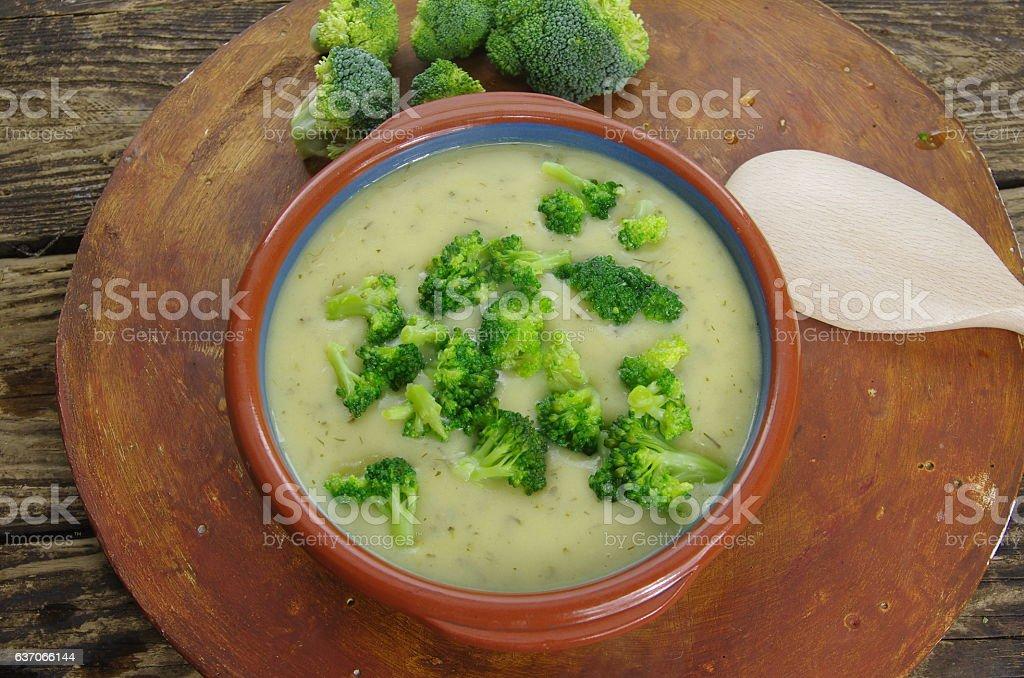 broccoli soup stock photo
