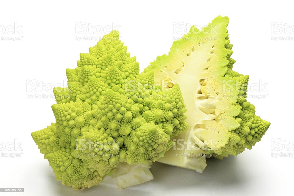 broccolo romanesco stock photo