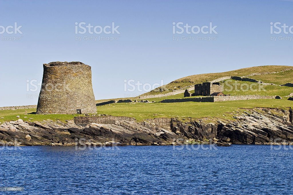 Broch of Mousa stock photo