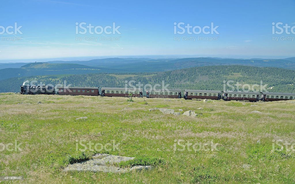 Brocken Mountain,Railroad,Harz,Germany stock photo