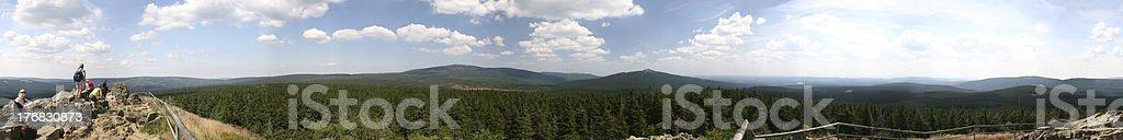 Brocken Panorama stock photo