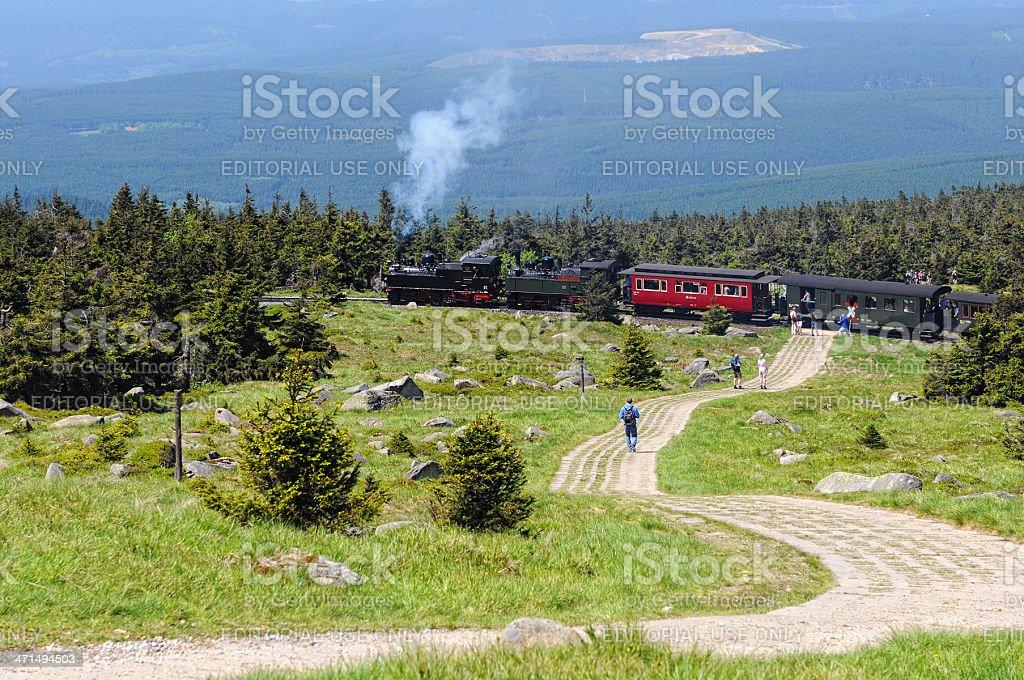 Brocken Railway Steam locomotive stock photo