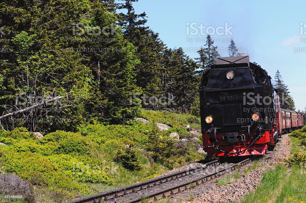 Brocken Railway Steam locomotive royalty-free stock photo