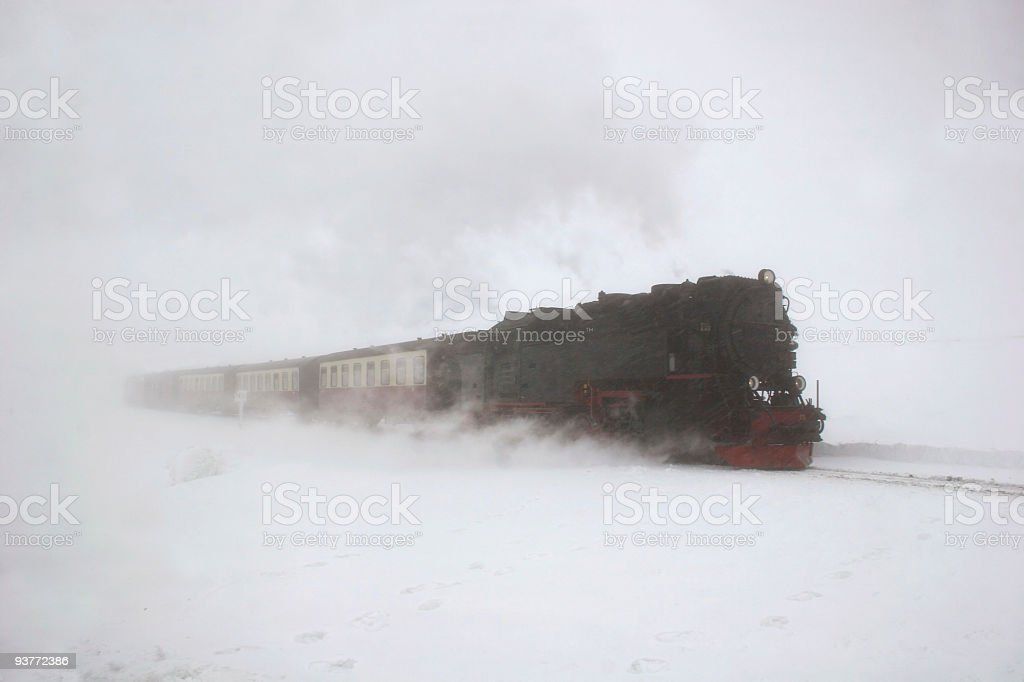 Brockenbahn im Schneegestöber royalty-free stock photo