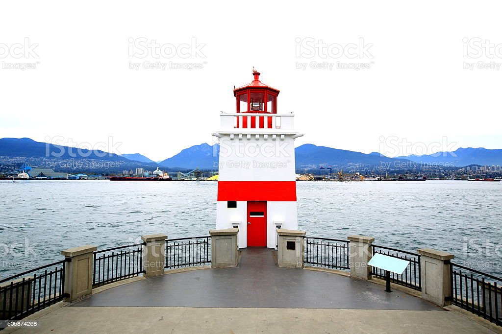 Brockton Point Lighthouse, CANADA stock photo