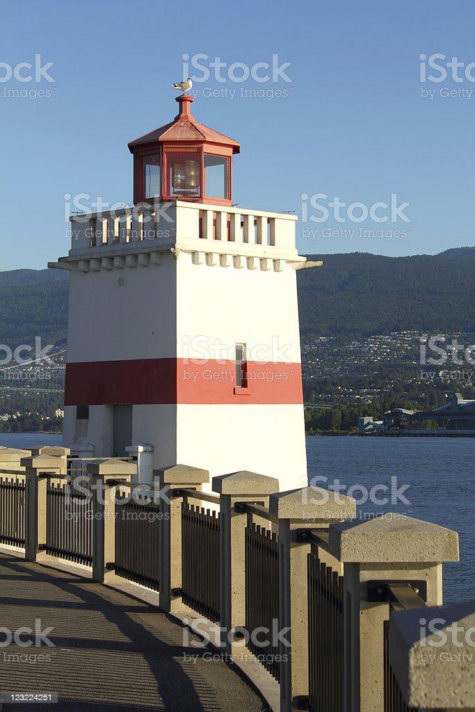 Brockton Point Lighthouse, Vancouver royalty-free stock photo
