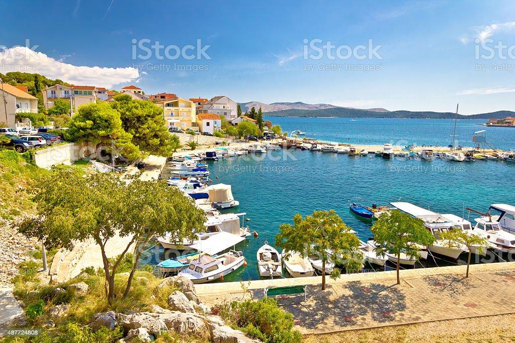 Brodarica village on Adriatic sea stock photo