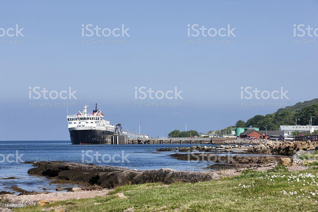 Brodick Bay Ferry Terminal stock photo