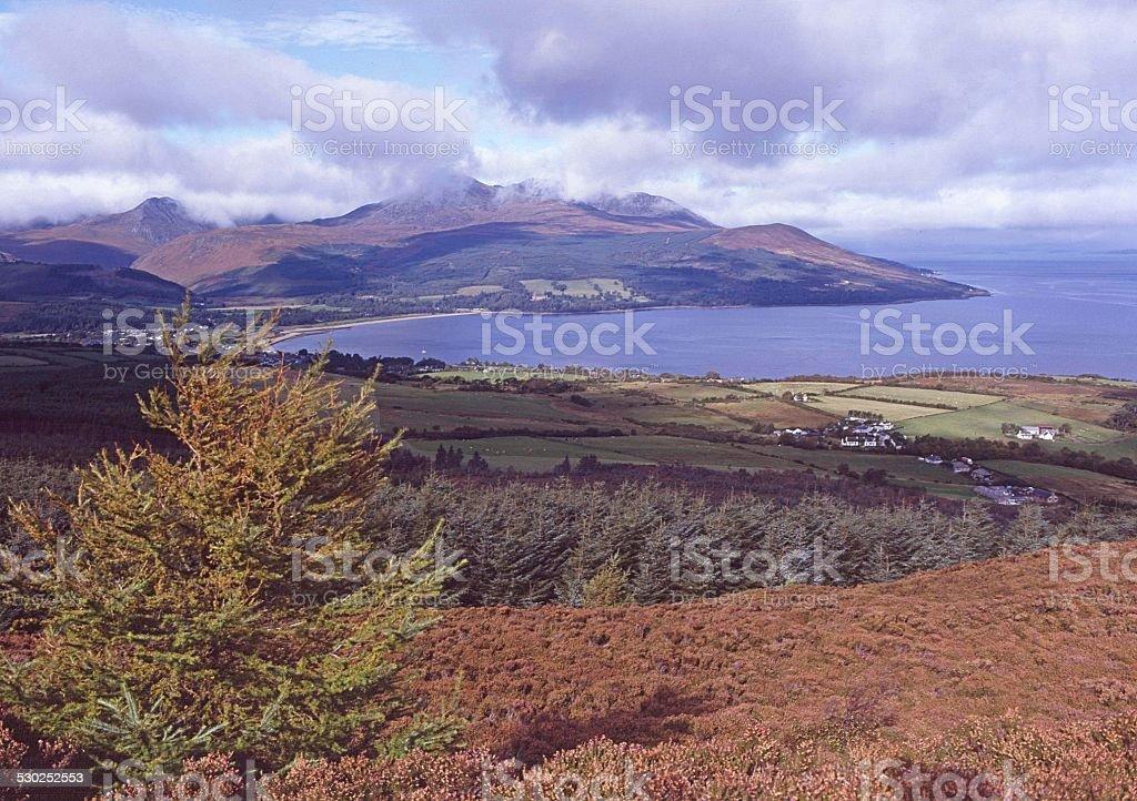 Brodick Bay Isle of Arran Scotland stock photo