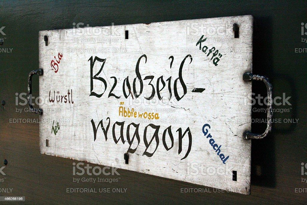 Brodzeid Waggon stock photo