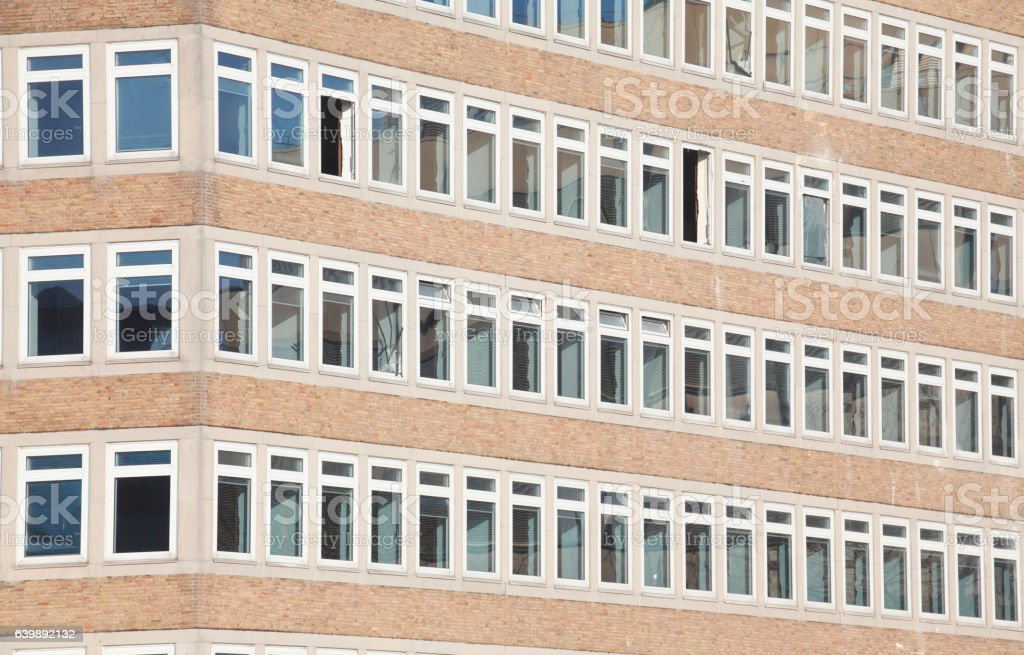 Bürohaus, Fenster stock photo