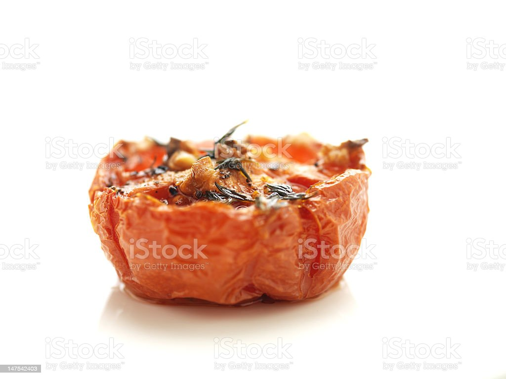 Broiled Tomato royalty-free stock photo
