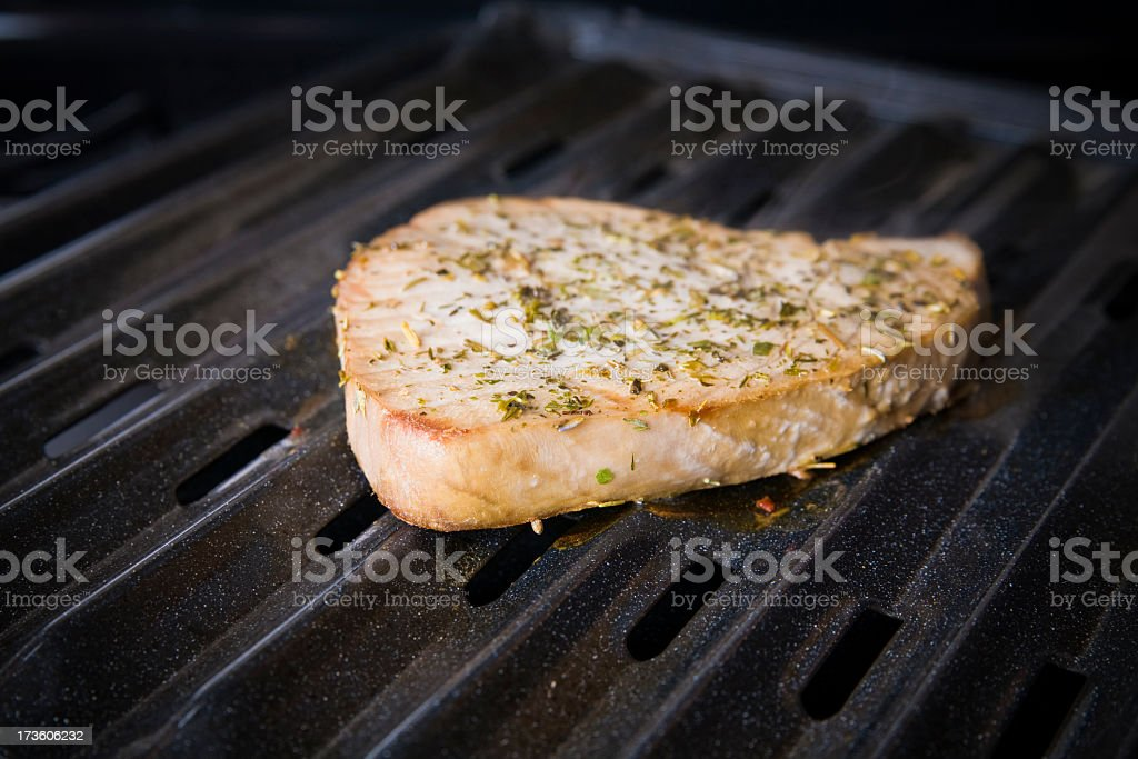 Broiled Tuna Steak royalty-free stock photo