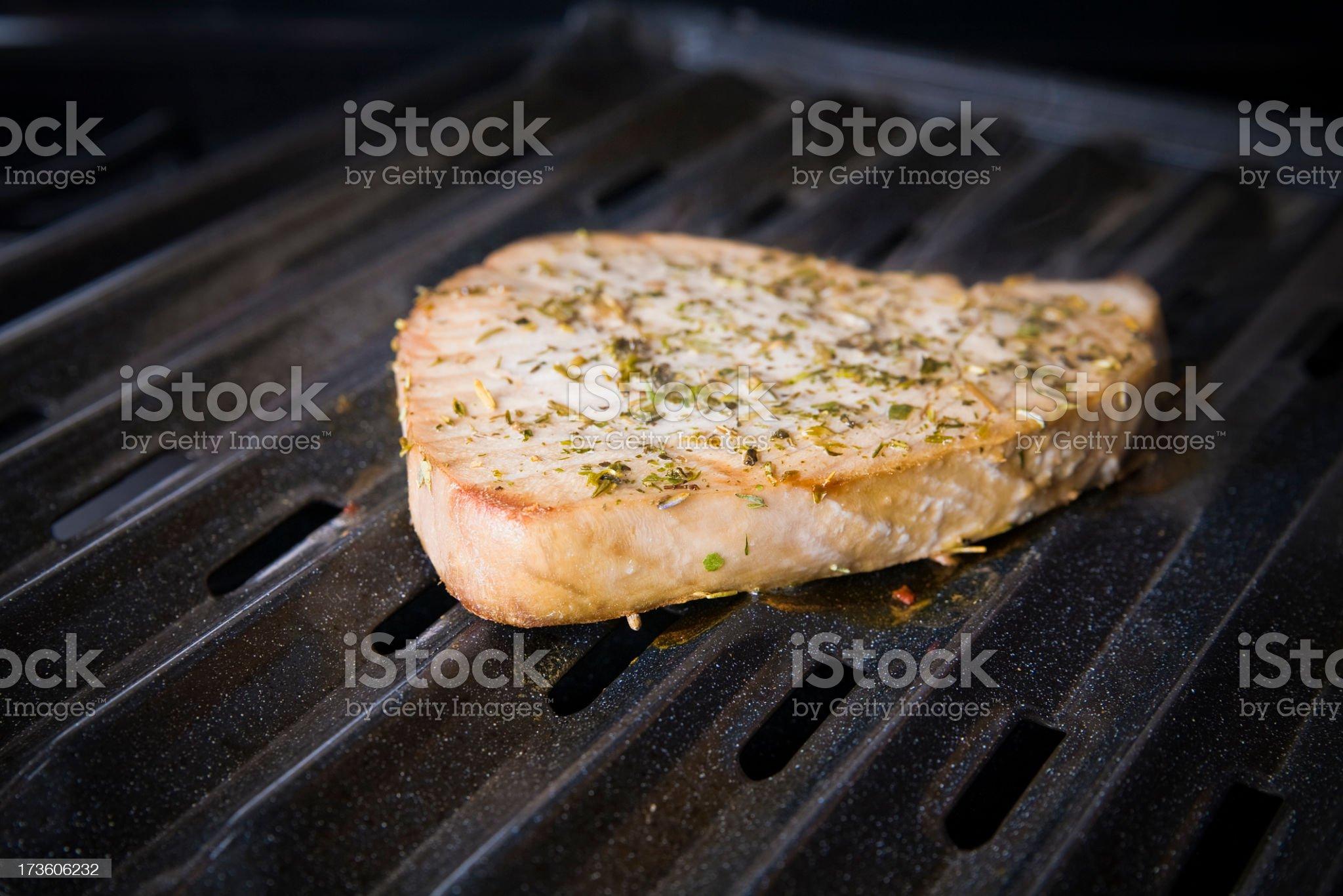 Broiled Tuna Steak royalty-free stock photo