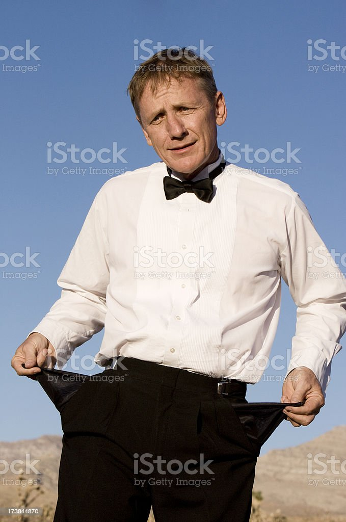 Broke Businessman royalty-free stock photo