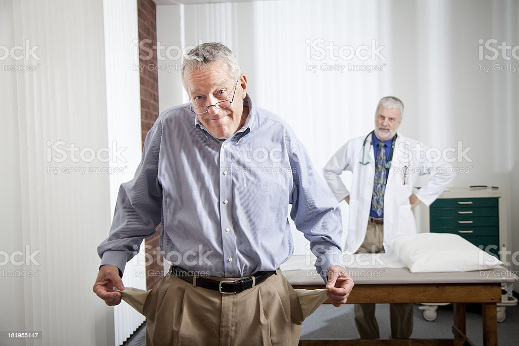 Broke Patient stock photo