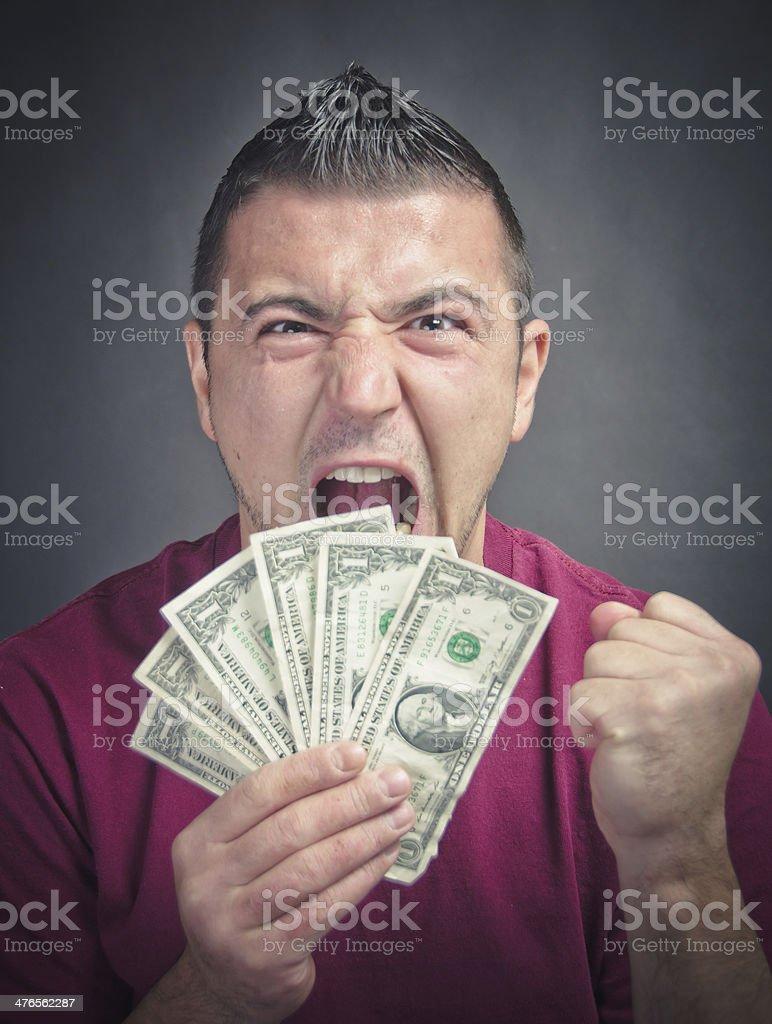 Broke Sad Man Screaming royalty-free stock photo