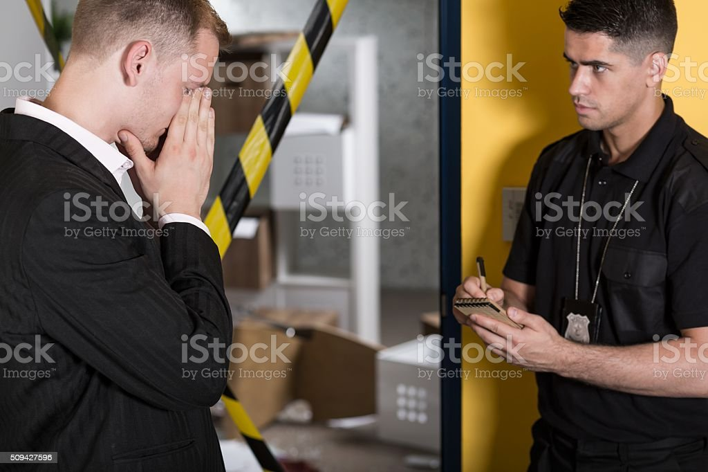 Broken and devastated stock photo