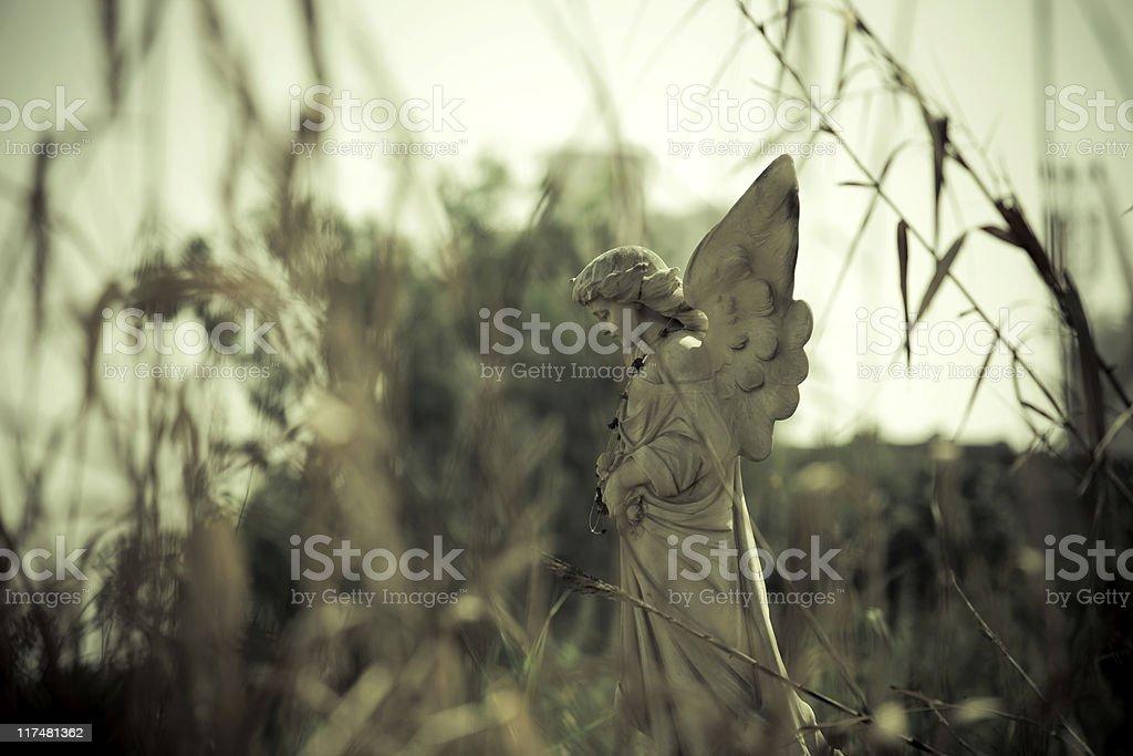 Broken Angel Statue stock photo