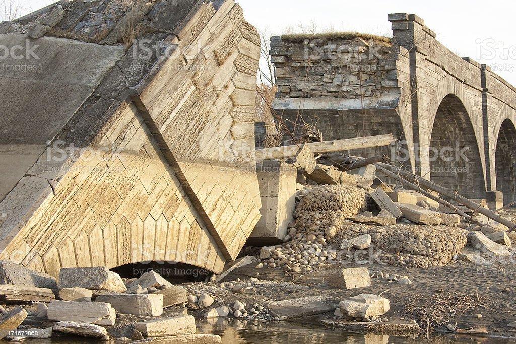 Broken Aqueduct stock photo