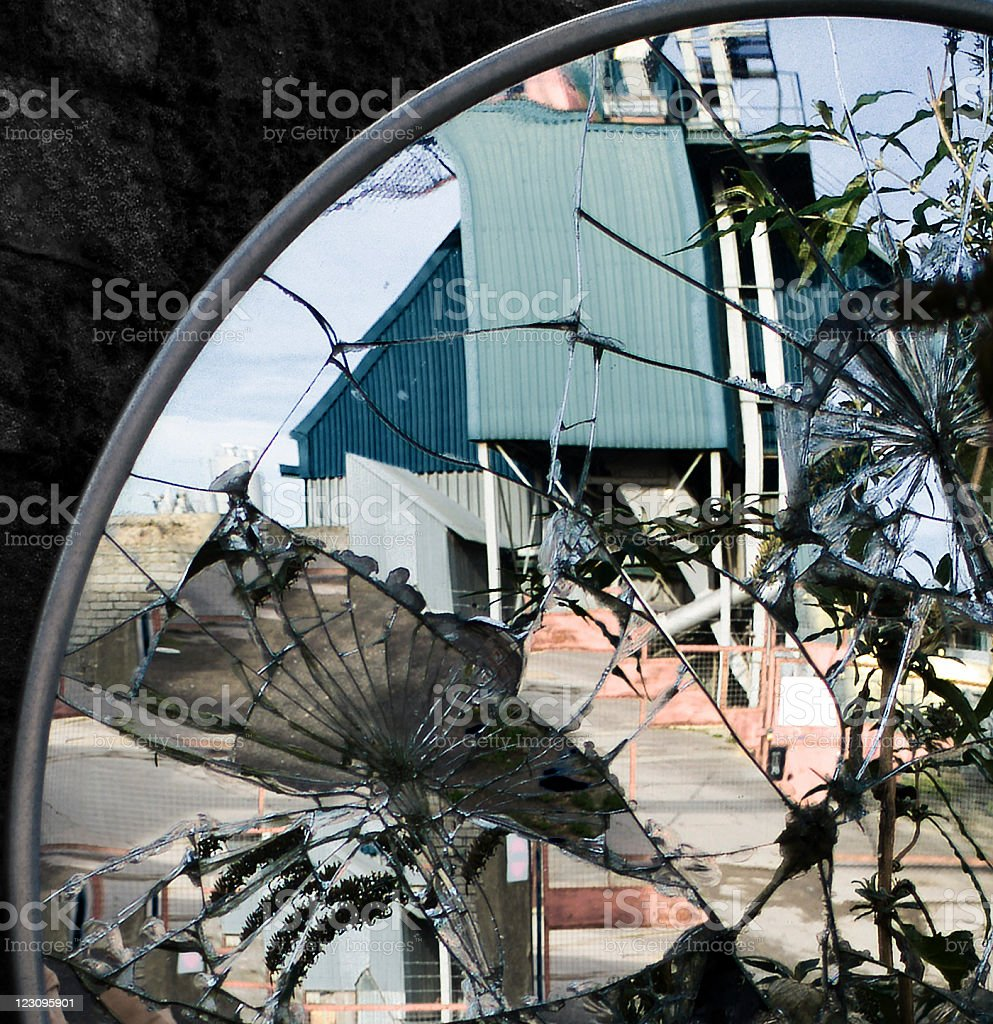 Broken architecture stock photo