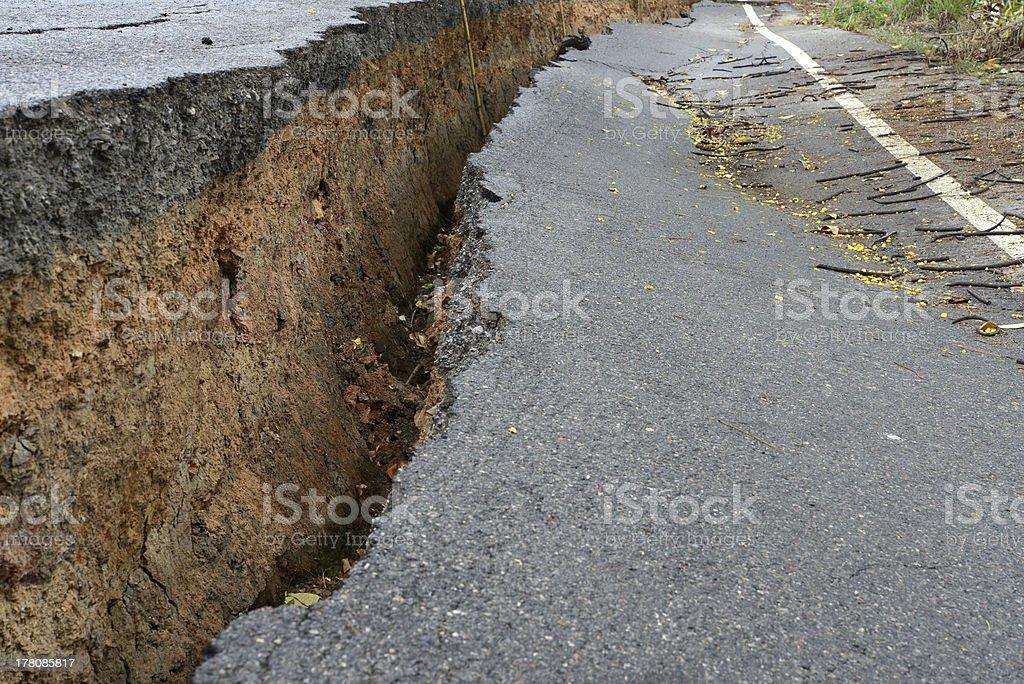 broken asphalt road royalty-free stock photo
