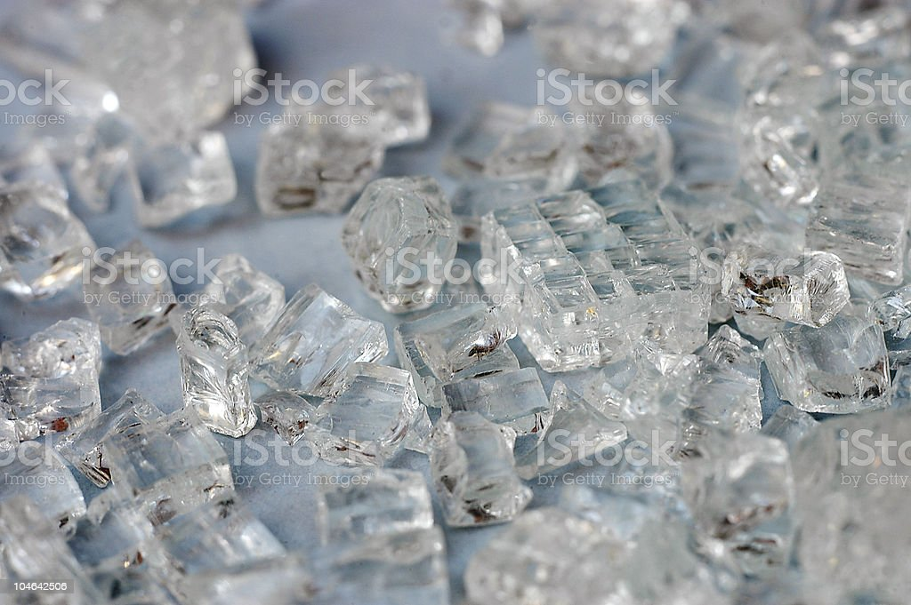 Broken auto safety glass royalty-free stock photo