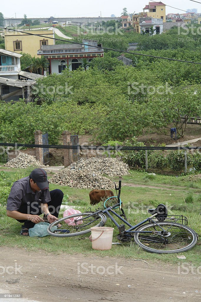broken bicycle royalty-free stock photo