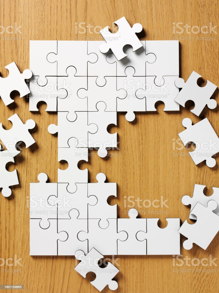 Broken Blank Jigsaw Puzzle royalty-free stock photo