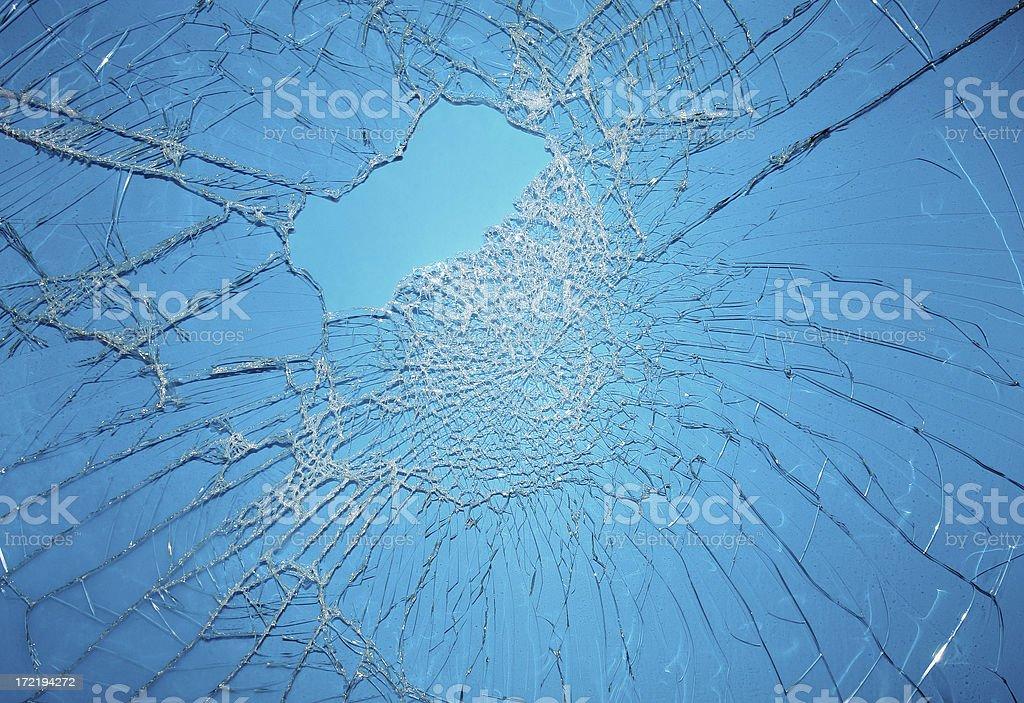Broken Blue Glass royalty-free stock photo