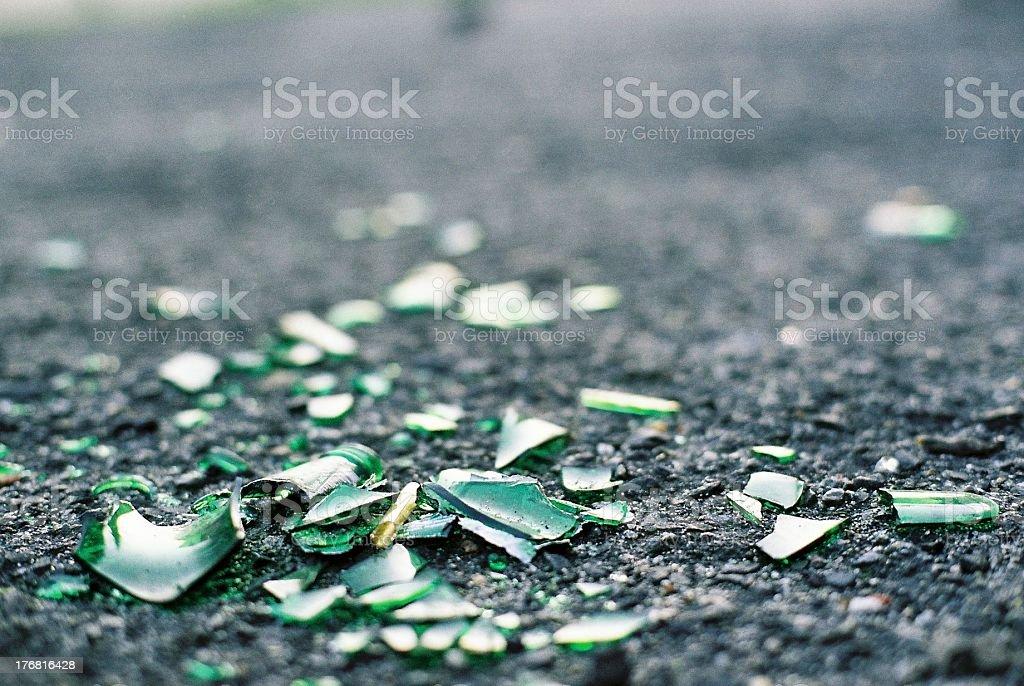 Broken bottle stock photo