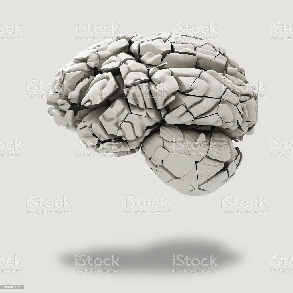 broken brain stock photo