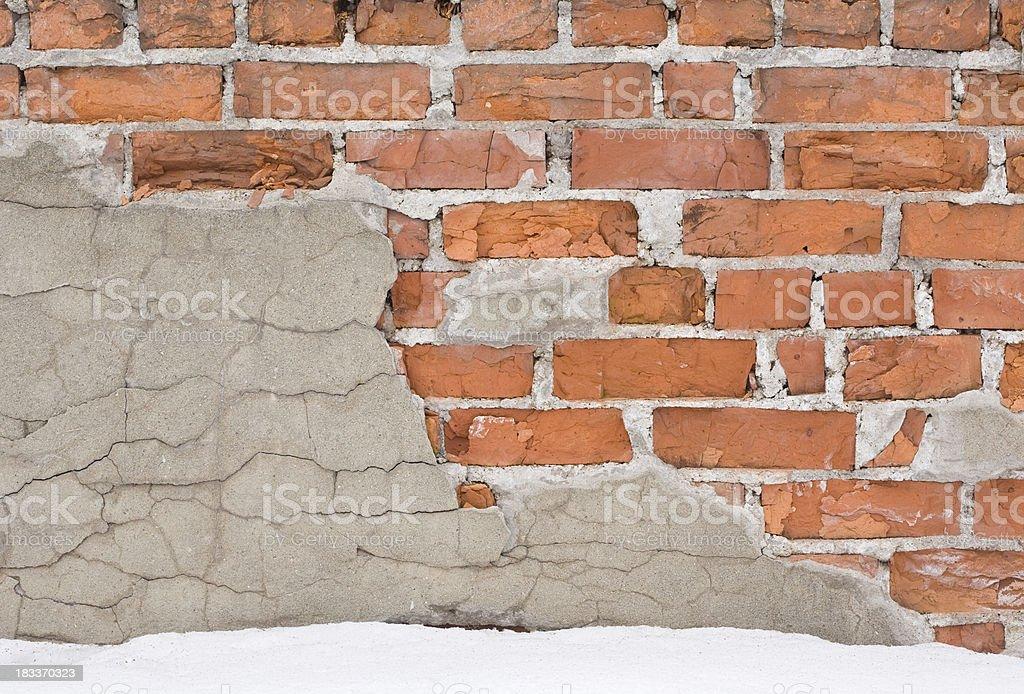 broken brick wall royalty-free stock photo